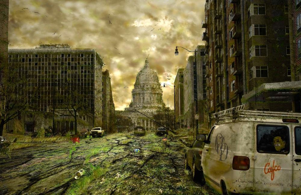 Radioactive Zombie Wallpaper Post-Apocalyptic Art |...
