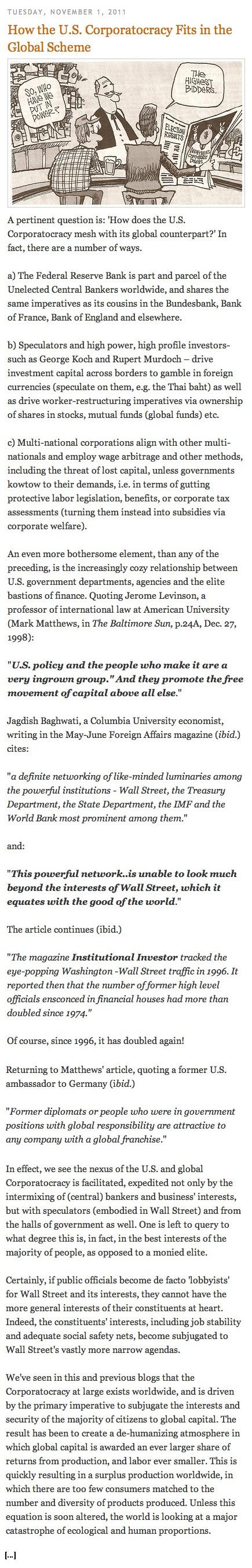 Global Corporatocracy