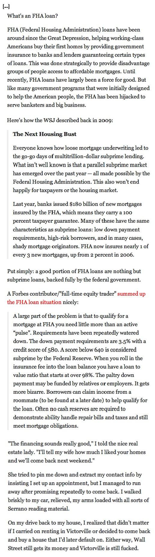 Housing Bubble Part Deuce