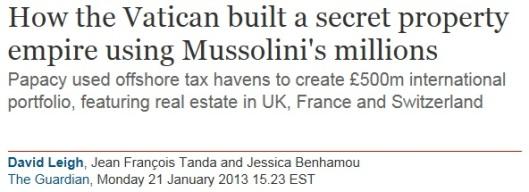Vatican Tax Dodger