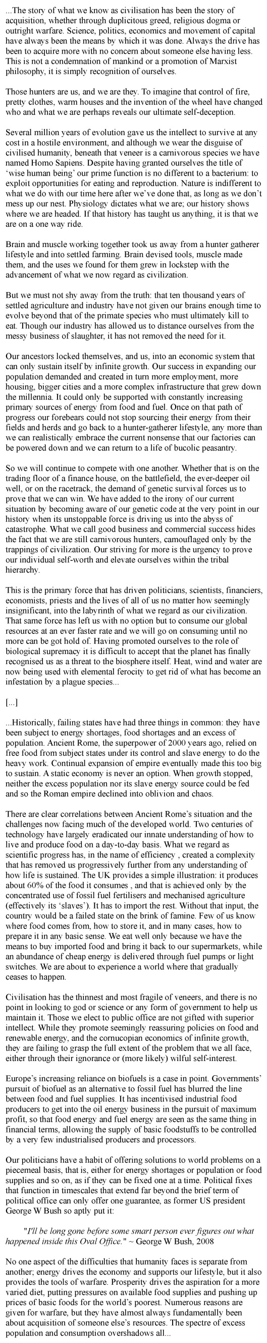 July   2013   Collapse of Industrial Civilization