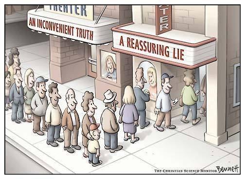 A reassuring lie