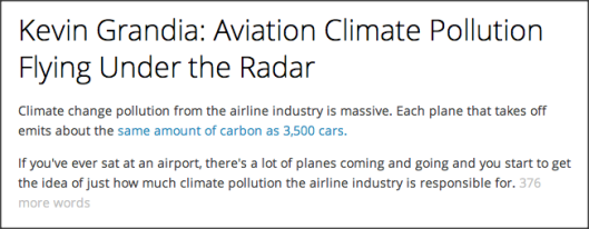 Aviation Pollution