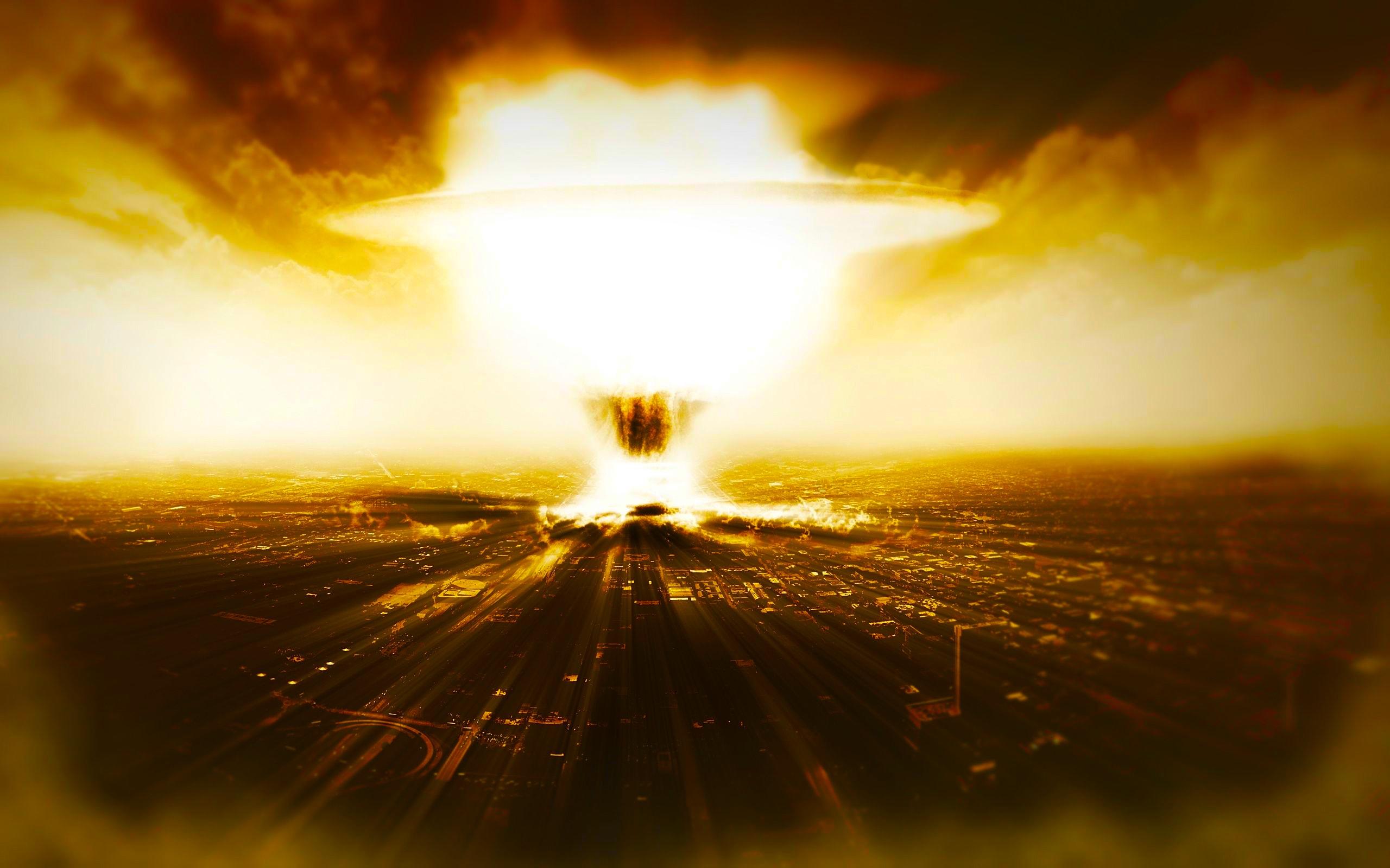 nuclear destruction clip art