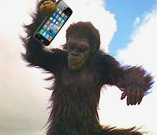 2001 Ape with iphone.jpg