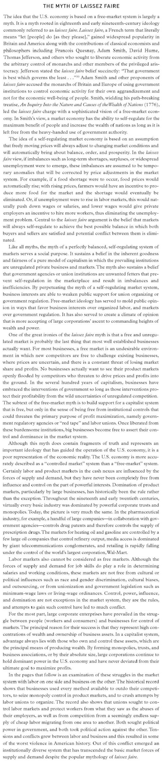 Myth of a free market